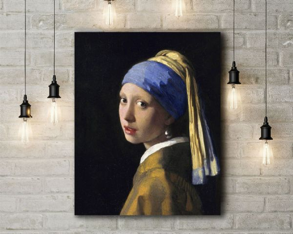 Johannes Vermeer: The Girl with a Pearl Earring. Fine Art Canvas.